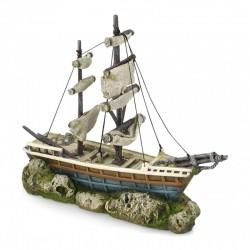 Ebi barco con velas 38x12.5x31.5cm