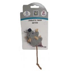 Ratón peluche cola cuerda 7cm