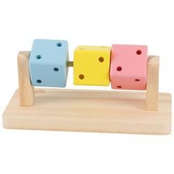 Juguete hamster dados madera 14x7x6cm