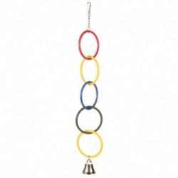 Juguete periquito aros olimpicos con campana