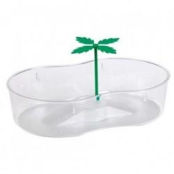Tortuguera forma 8 plastico traslucido